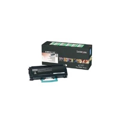 Lexmark Black Return Program Toner Cartridge (Yield 3,500 Pages) for X463/X464/X466 Multifunction Mono Laser Printer