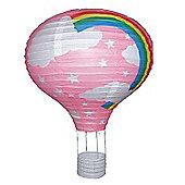 "Paper Lantern 14"" Hot Air Balloon Lamp Light Shade Pink"