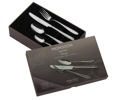 Monsoon Mirage by Arthur Price 24 Piece Cutlery Set, 6 Place Settings
