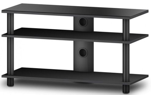 Sonrous Glass and Wood TV Stand for Up to 42 inch TVs