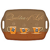 I Style Qualitea of Life Large Tea Tray with Handles, 48 x 31cm