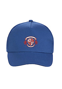 Unisex Embroidered School Cap - Royal blue