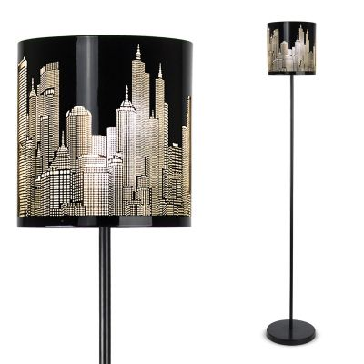 New York Skyline LED Floor Lamp, Black