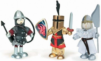 Le Toy Van Budkins Knights Set Wooden Fitures