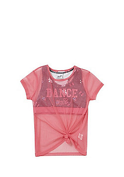 Nickelodeon JoJo Siwa 2 in 1 Crop Top and Mesh T-Shirt - Pink