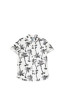 F&F Palm Tree Print Shirt - White