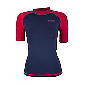 Mountain Warehouse Womens Rash Vest SPF50+ Treatment and Flat Seams for Swimming - Navy