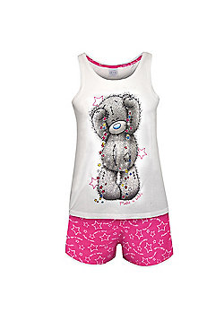 Tatty Teddy Ladies Short Pyjamas - White