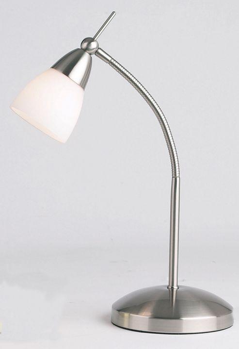 Endon Lighting Touch Desk Lamp in Satin Chrome