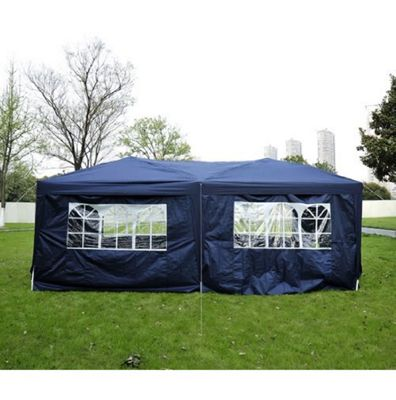 Outsunny 6 x 3 m Garden Gazebo Waterproof + Carrying Bag (Blue)