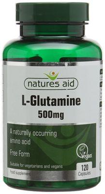 Natures Aid L-Glutamine 500mg - 120 Capsules