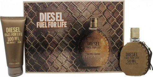 Diesel Fuel For Life Gift Set 50ml EDT + 100ml Shower Gel For Men