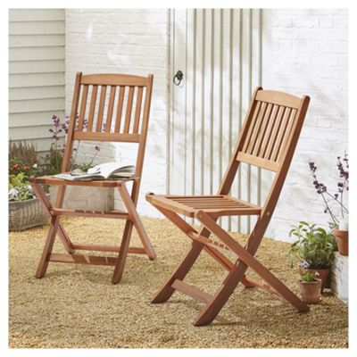buy kingsbury folding wooden patio chair 2 pack from our outdoor