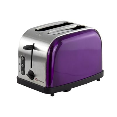 SQ Professional 900 W Two Slice Toaster with 3 Functions and 6 toasting levels - Amethyst