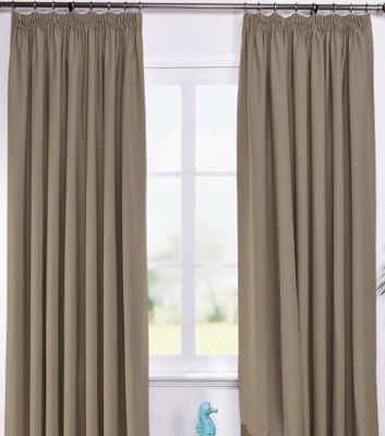Living or Dining Room Thermal Blackout Curtains 46 x 72 in Coffee