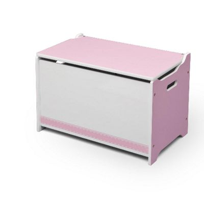 Delta Children Pink and White Toy Box