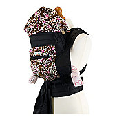 Mei Tai Baby Carrier With Hood & Pocket - Brown/White Floral