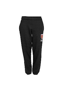 West Ham United FC Boys Slim Fit Jog Pants - Black