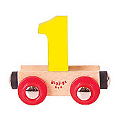 Bigjigs Rail Rail Name Number 1 (Yellow)