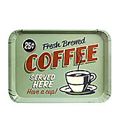 Coffee - American Style Retro Diner Drinks Serving Tray Melamine Plastic