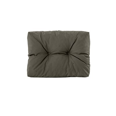 Gardenista Tufted Small Back Cushion in Water Resistant Fabric for Pallet Furniture Seating - Grey