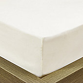 Julian Charles Luxury 180 Thread Count Fitted Sheet - Cream