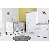 Disney Winnie the Pooh Dreams & Wishes 4 Piece Room Set - White With Grey Trim