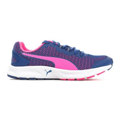 Puma Descendant V4 Womens Running Trainer Shoe Blue/Pink - UK 3.5