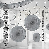 Decorations Silver Paper & Foil Room Decorating Kit