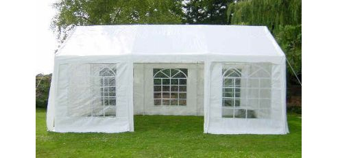 White 4x6m Wedding Garden Party Marquee