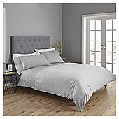 Fox & Ivy Embroidered Band Duvet Set - Grey