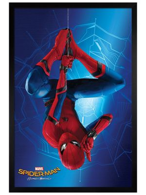 Spider-Man Black Wooden Framed Homecoming Hang Poster 61x91.5cm