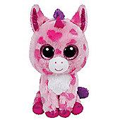 TY Beanie Boo Plush - Sugar Pie the Unicorn 15cm (Valentines Exclusive)