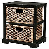 Miami - 2 Drawer Storage Cabinet - Brown / Black