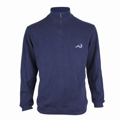 Woodworm Golf Half Zip Sweater Navy M