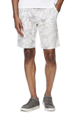 F&F Leaf Print Sweat Shorts Grey Marl 3XL
