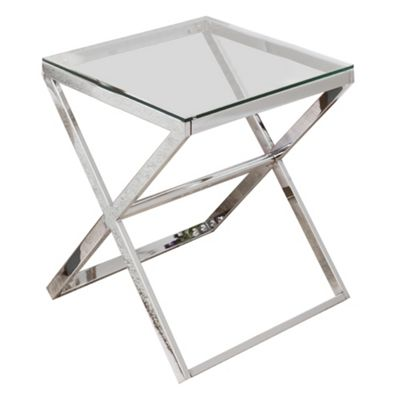 Anikka Chrome And Glass Side Table