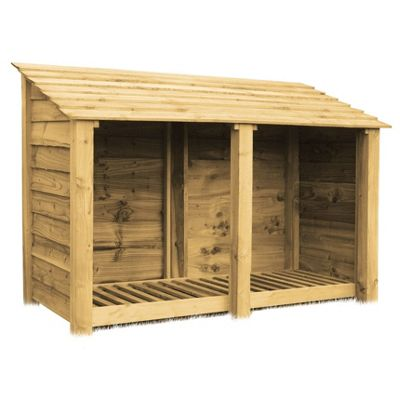 Cottesmore wooden log store - 4ft