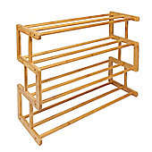 Woodluv S Style 4 Tier Bamboo Shoe Rack