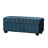 Sofa Collection Valentina Footstool - Blue