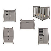 Obaby Stamford 5 Piece Nursery Room Set - Taupe Grey