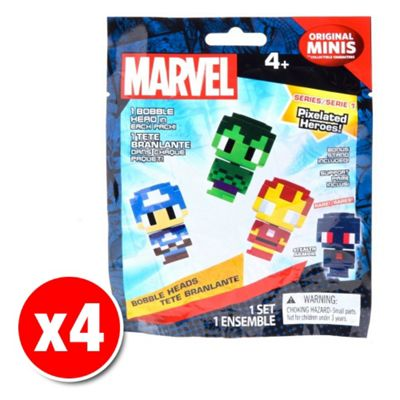 Marvel Pixel Heroes Original Minis Blind Bag Figure (4x Random figures supplied)