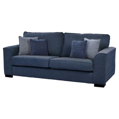 Vitorio Large 3 Seater Sofa, Navy