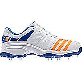 adidas Howzat FS II Mens Cricket Trainer Spikes Shoe White/Blue - White