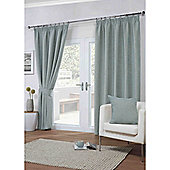 Dover Pencil Pleat Lined Curtains - Duck egg