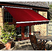 Outsunny 3m x 2.5m Garden Awning with Winding Handle in Red