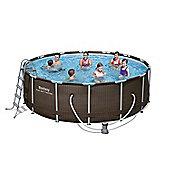 Bestway 14X48 Rattan Frame Swimming Pool Set
