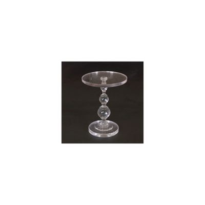 Modern Perspex Clear Acrylic Round Base Coffee Tea Side End Table