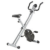 Folding Exercise Bike - Silver/Black