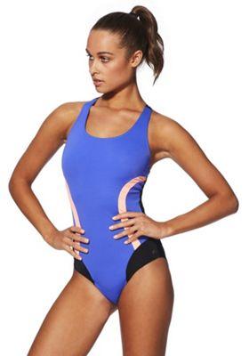 F&F Active Panelled Swimsuit Cobalt 16